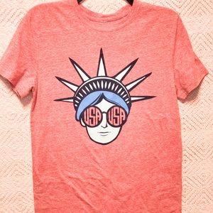 Size medium starch if liberty USA printed T-shirt.